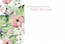 of a Dear Sister In-Law