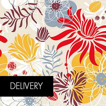 Delivery with floral elegance